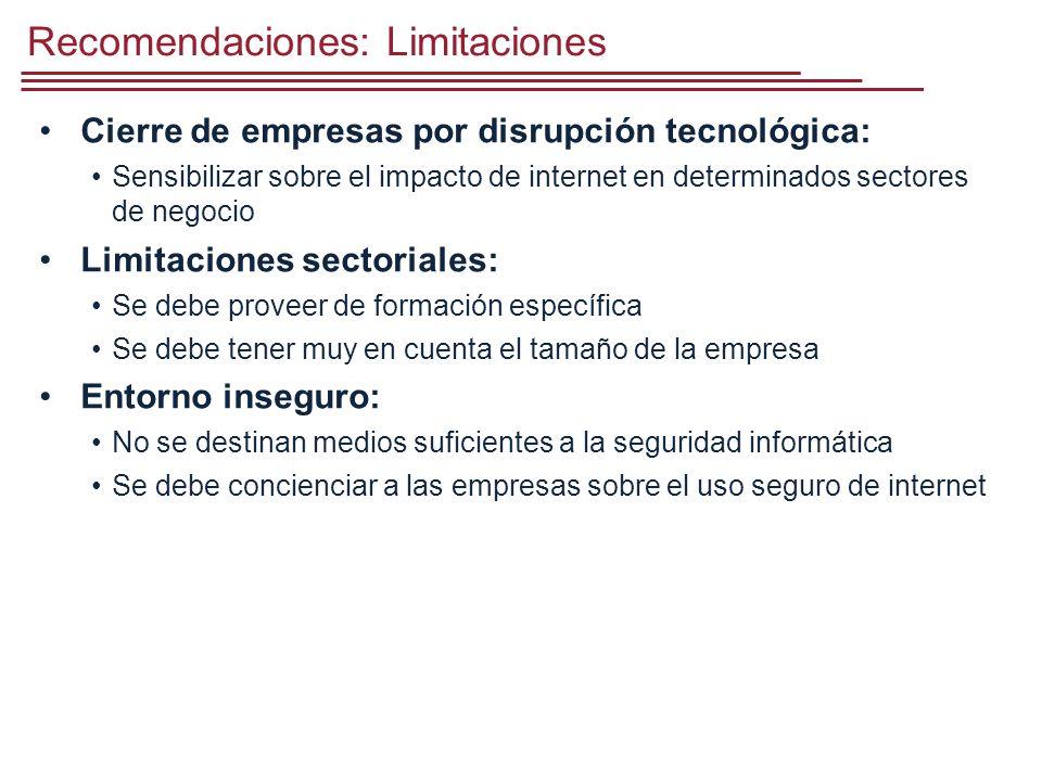 Recomendaciones: Limitaciones