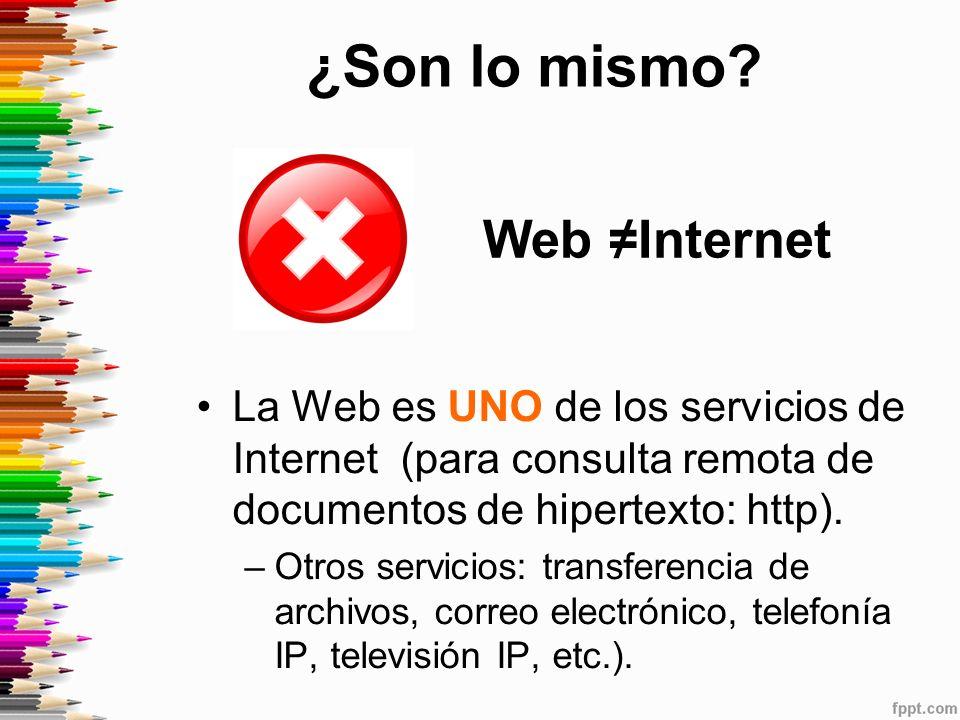 ¿Son lo mismo Web ≠Internet