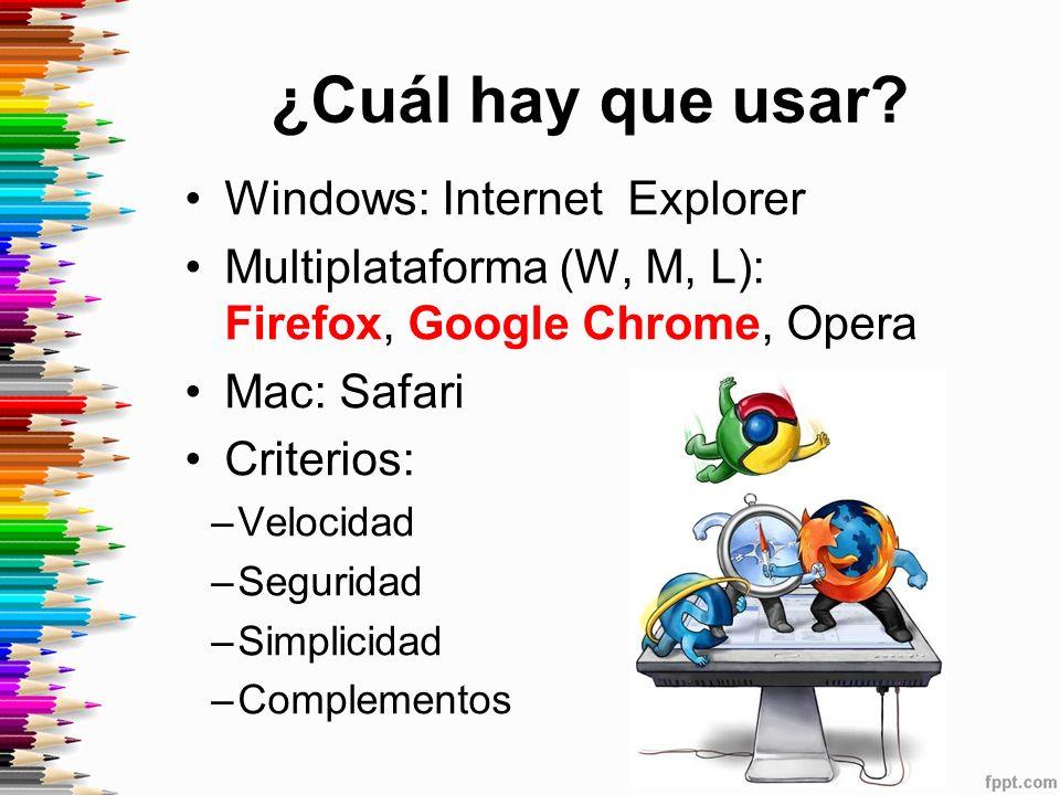 ¿Cuál hay que usar Windows: Internet Explorer