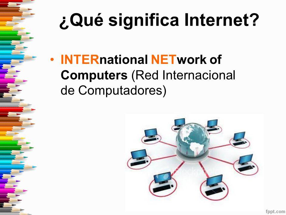 ¿Qué significa Internet