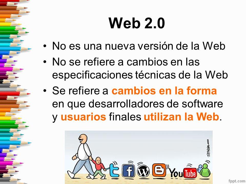 Web 2.0 No es una nueva versión de la Web