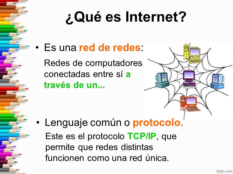 ¿Qué es Internet Es una red de redes: