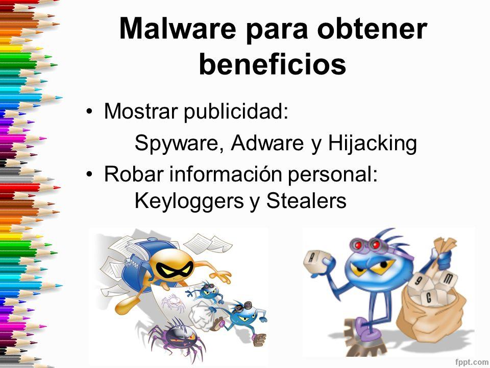 Malware para obtener beneficios