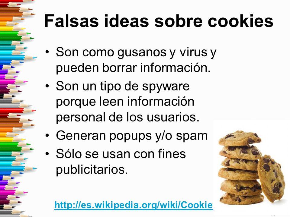 Falsas ideas sobre cookies