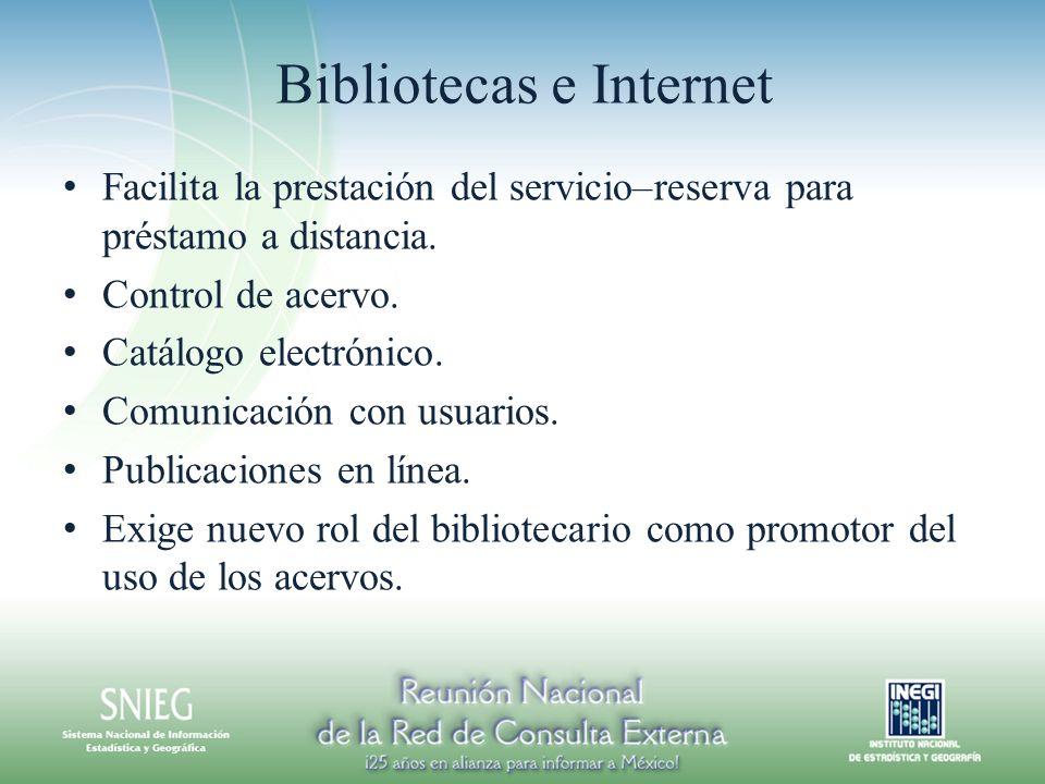 Bibliotecas e Internet