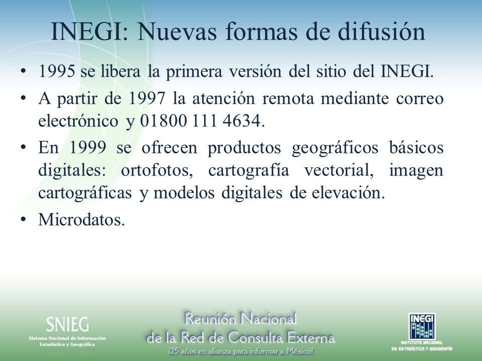 INEGI: Nuevas formas de difusión