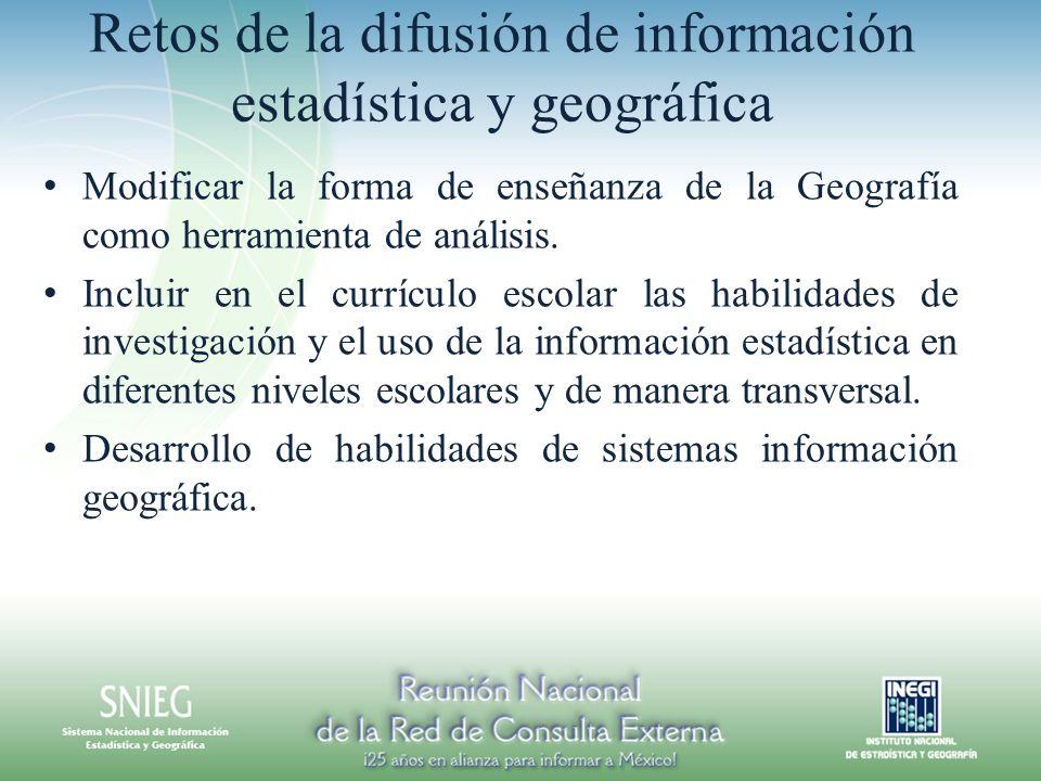 Retos de la difusión de información estadística y geográfica