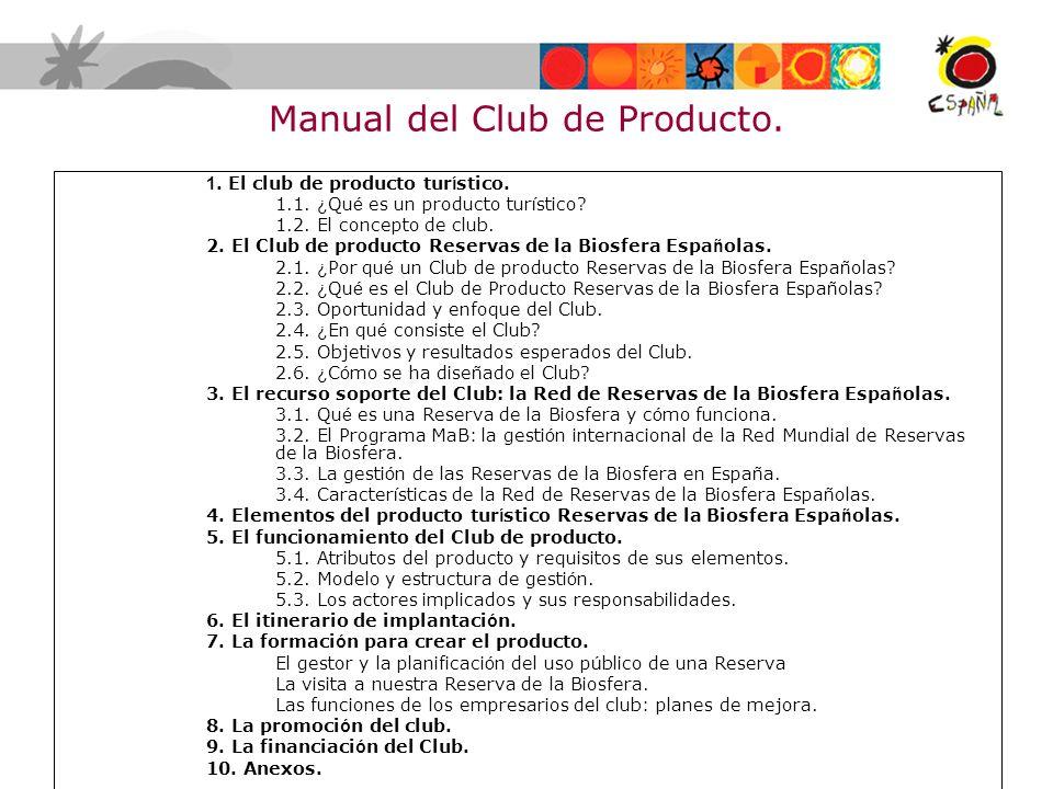 Manual del Club de Producto.