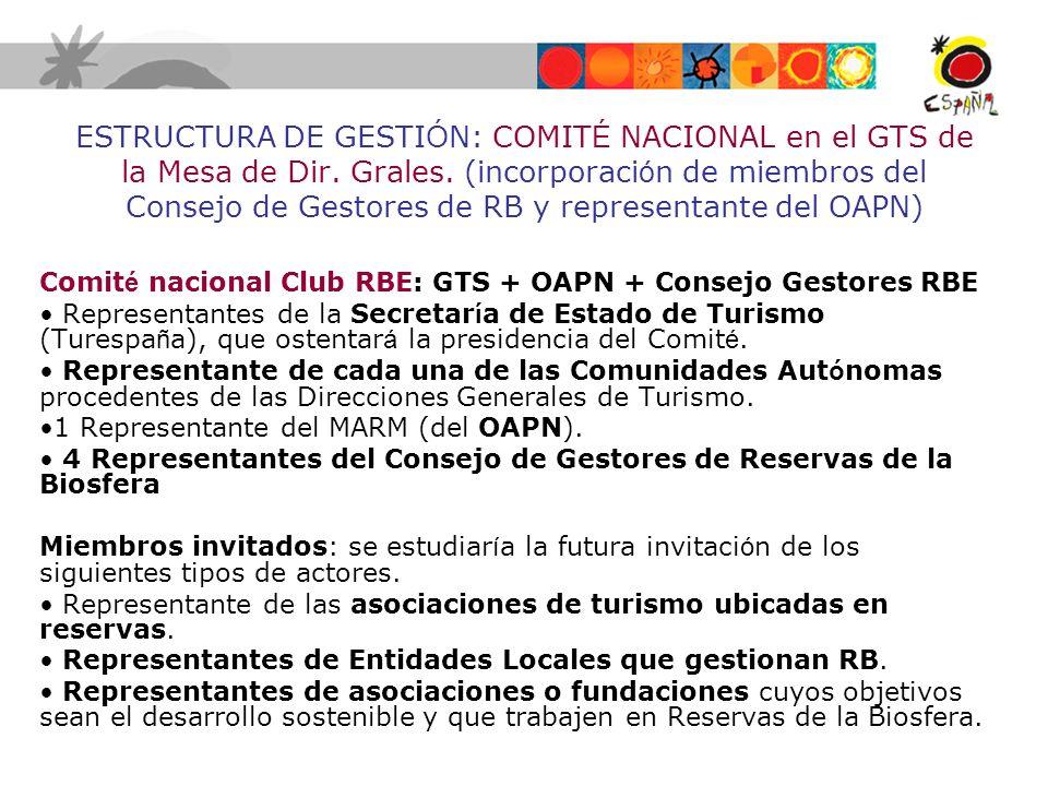 ESTRUCTURA DE GESTIÓN: COMITÉ NACIONAL en el GTS de la Mesa de Dir