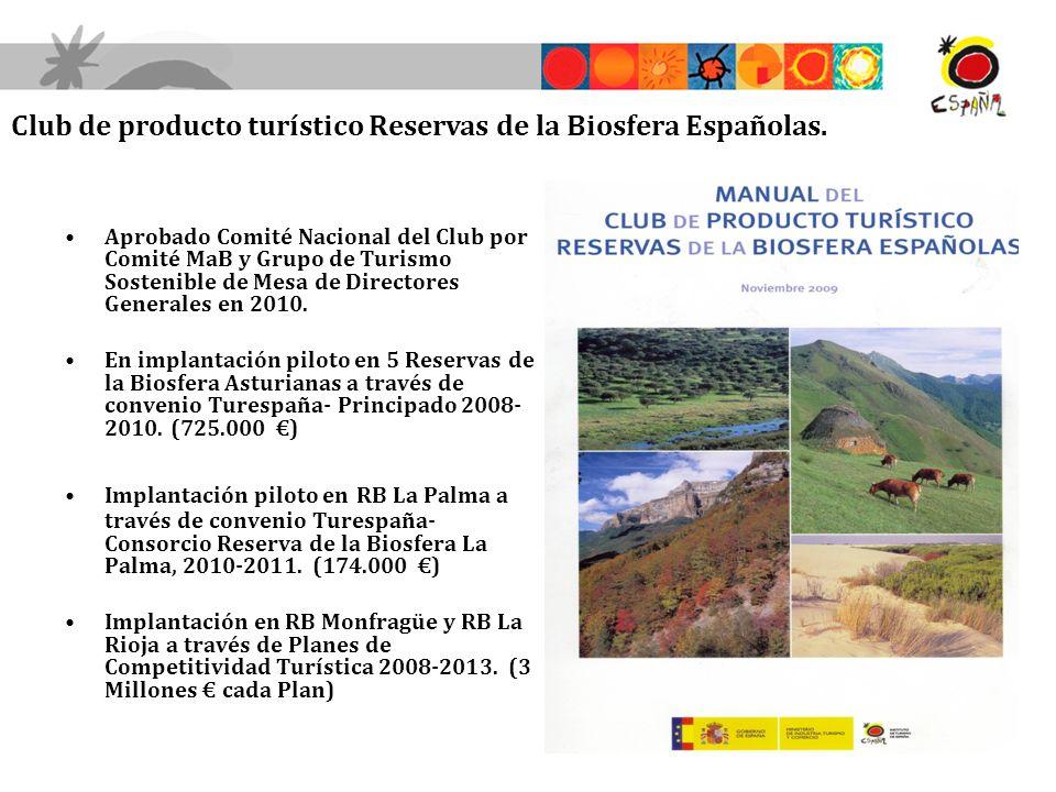 Club de producto turístico Reservas de la Biosfera Españolas.