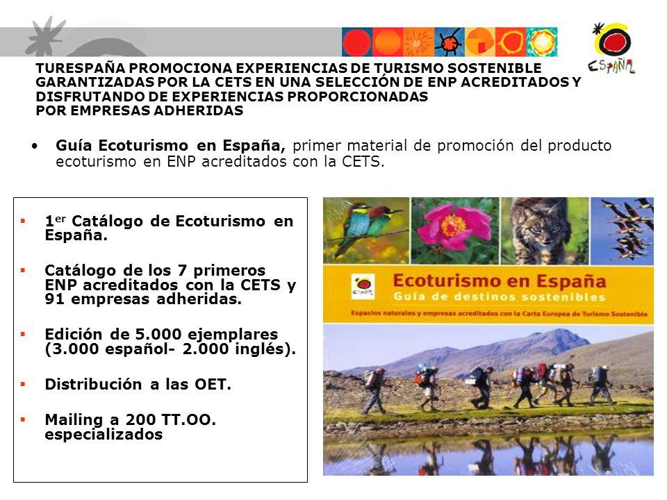 1er Catálogo de Ecoturismo en España.