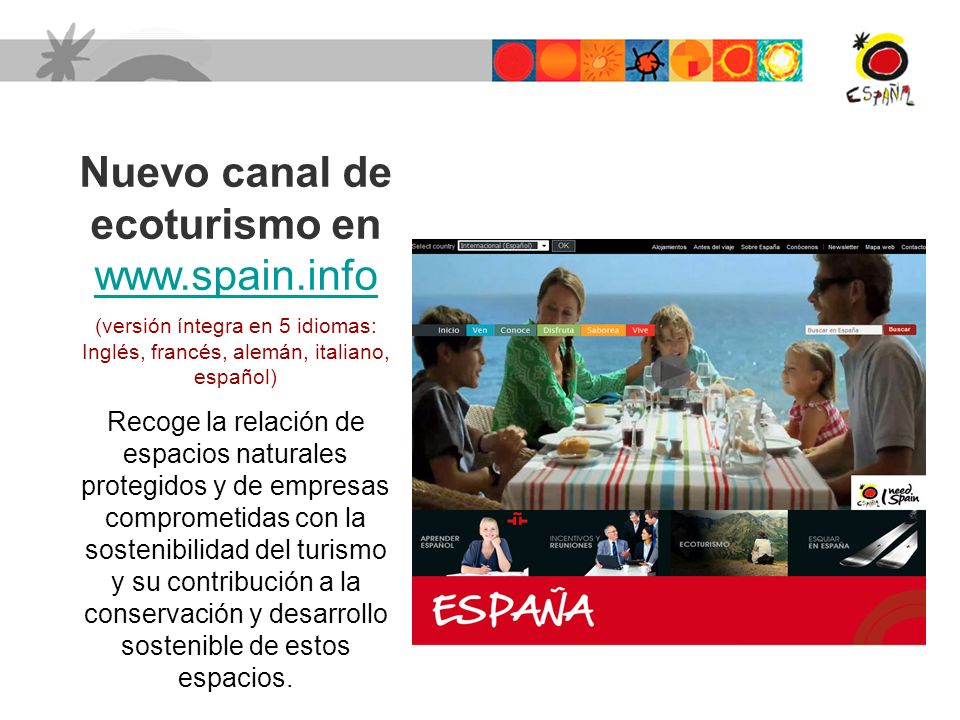 Nuevo canal de ecoturismo en www.spain.info