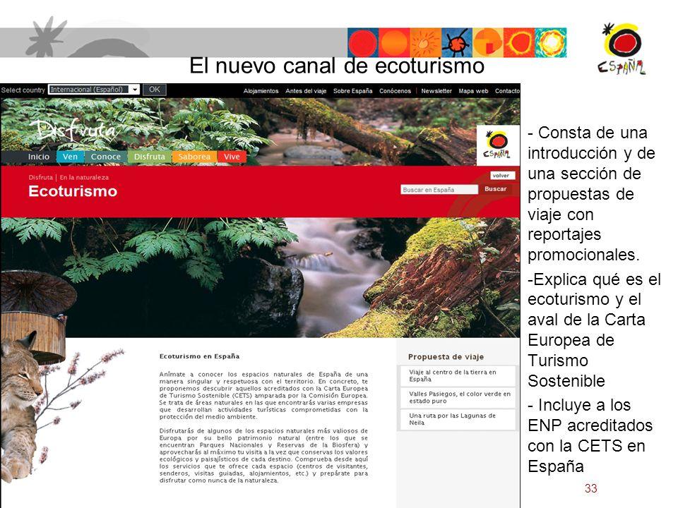 El nuevo canal de ecoturismo