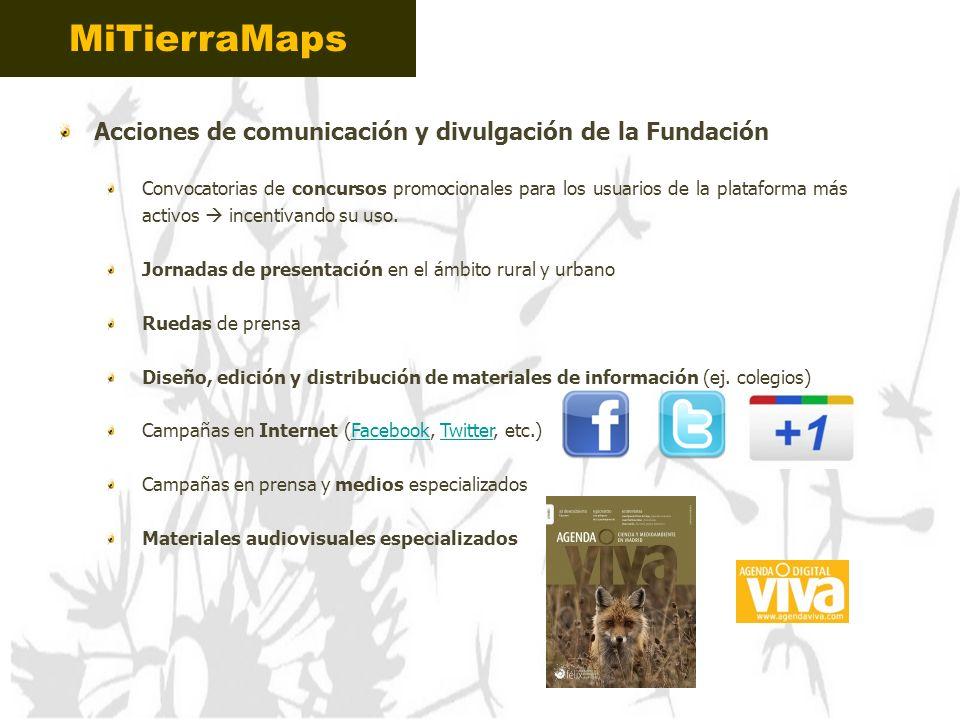 MiTierraMaps Acciones de comunicación y divulgación de la Fundación