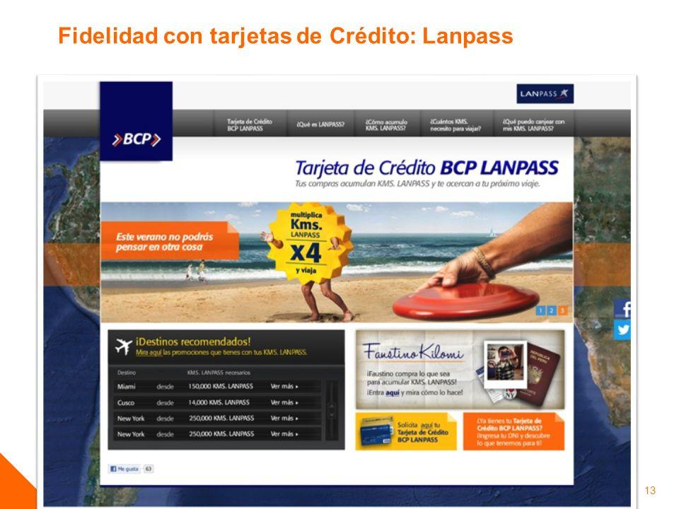 Fidelidad con tarjetas de Crédito: Lanpass
