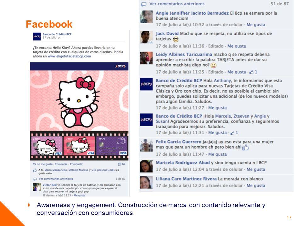 Facebook Fans en Facebook: 553,388. Fans con mucha interacción.