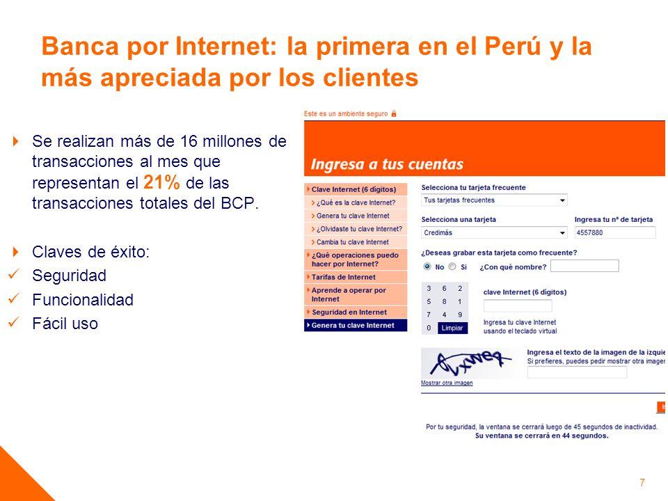 Banca por Internet: la primera en el Perú y la más apreciada por los clientes