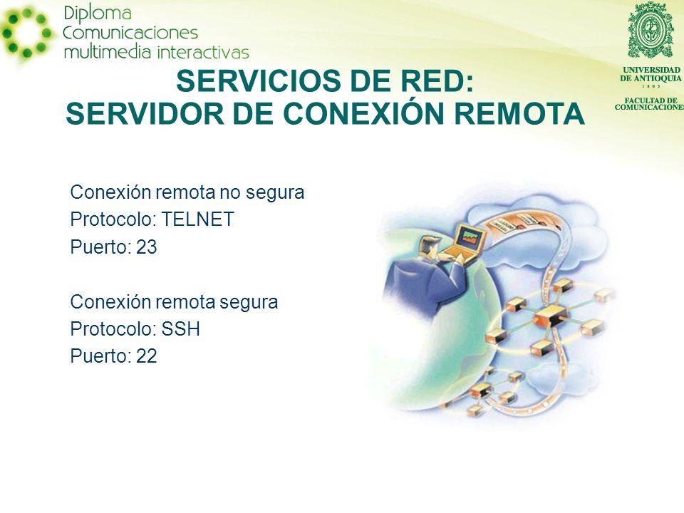 SERVICIOS DE RED: SERVIDOR DE CONEXIÓN REMOTA