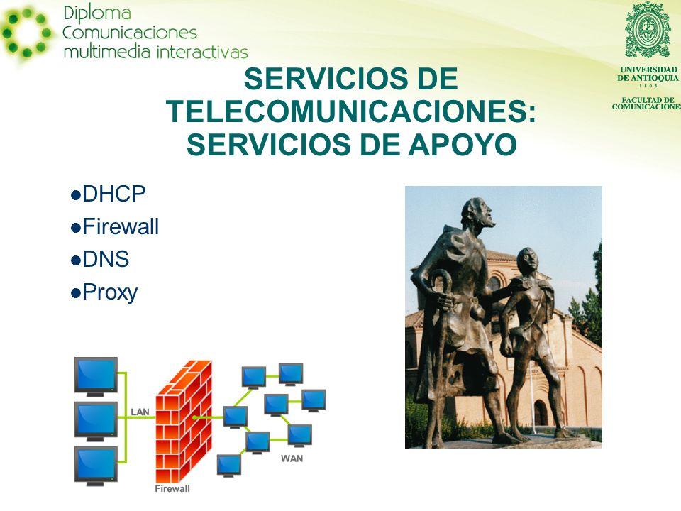 SERVICIOS DE TELECOMUNICACIONES: SERVICIOS DE APOYO