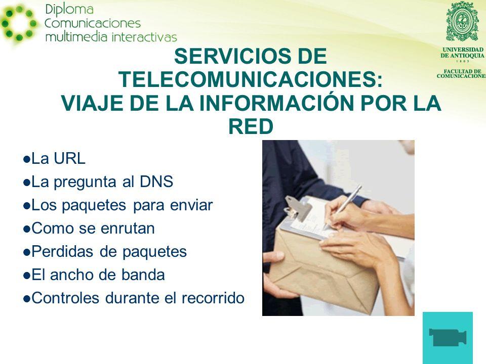 SERVICIOS DE TELECOMUNICACIONES: VIAJE DE LA INFORMACIÓN POR LA RED