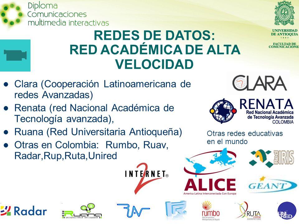 REDES DE DATOS: RED ACADÉMICA DE ALTA VELOCIDAD