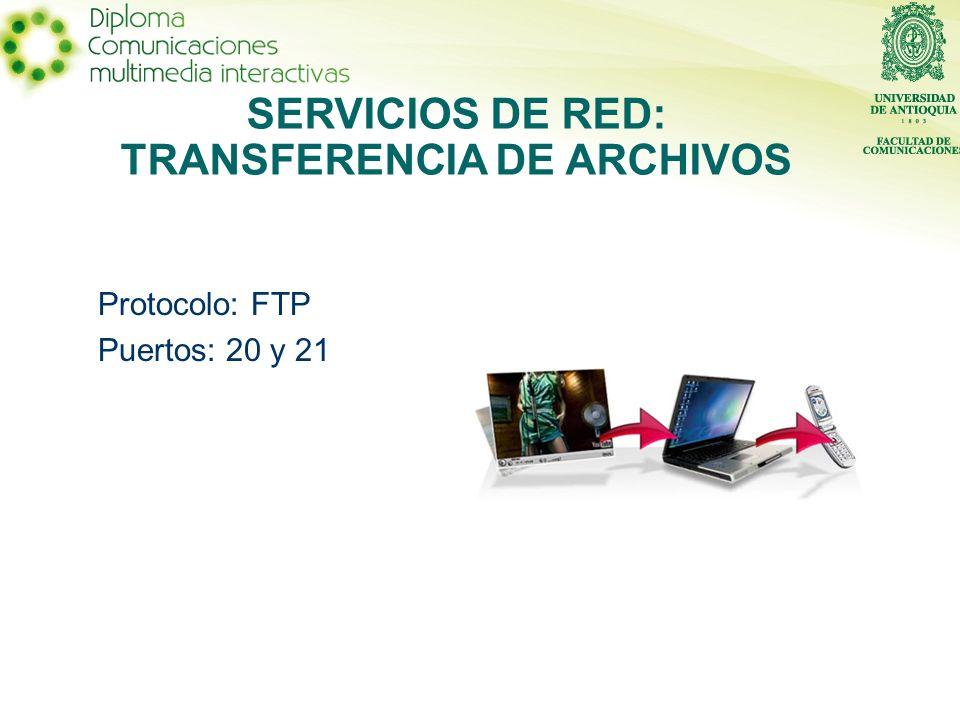 SERVICIOS DE RED: TRANSFERENCIA DE ARCHIVOS