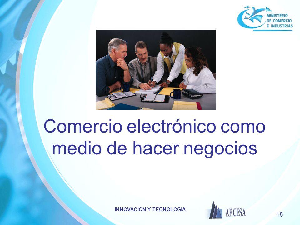 Comercio electrónico como medio de hacer negocios
