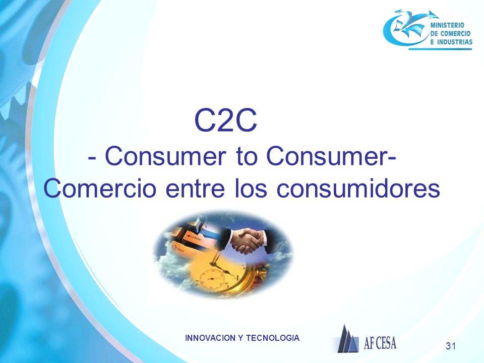 C2C - Consumer to Consumer- Comercio entre los consumidores