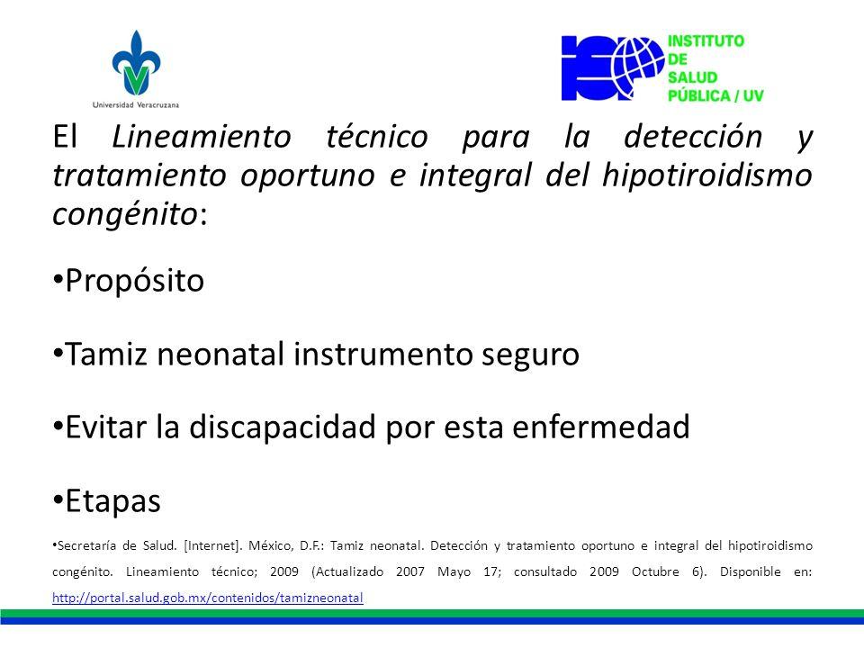 Tamiz neonatal instrumento seguro