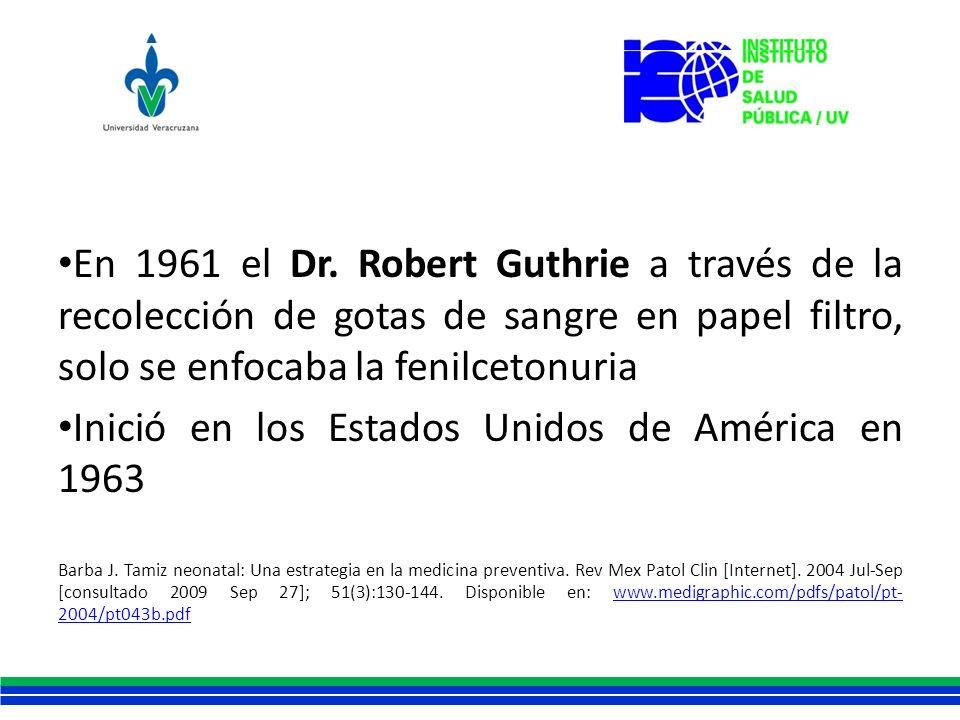 Inició en los Estados Unidos de América en 1963