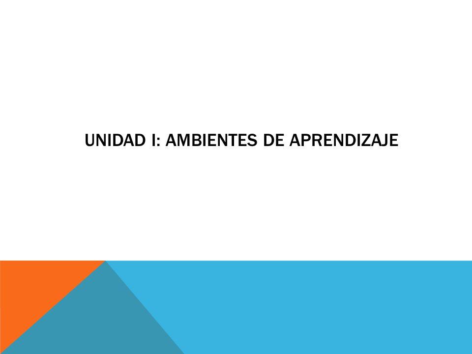 UNIDAD I: AMBIENTES DE APRENDIZAJE