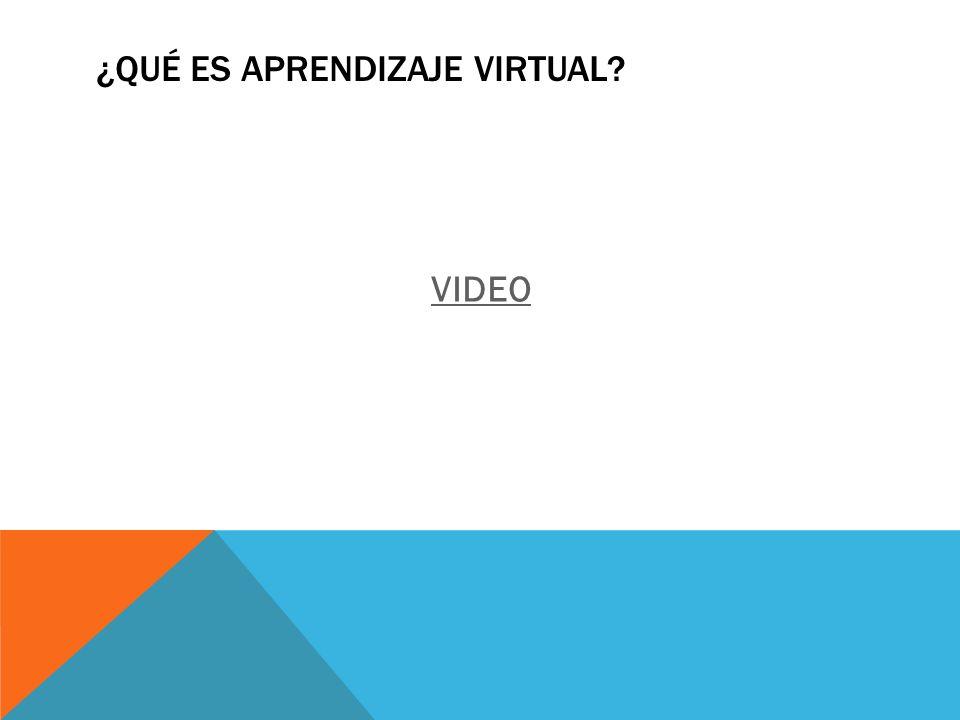¿Qué es aprendizaje virtual