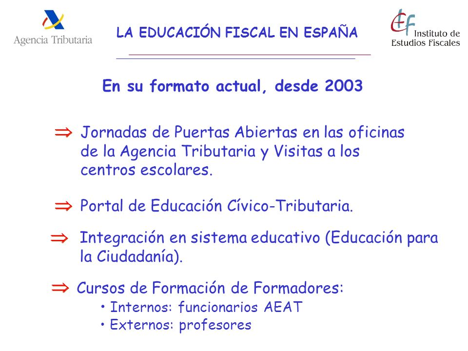 LA EDUCACIÓN FISCAL EN ESPAÑA