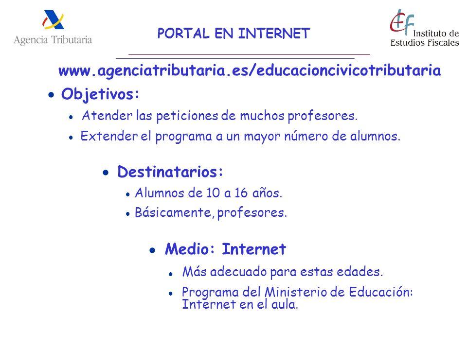 www.agenciatributaria.es/educacioncivicotributaria  Objetivos: