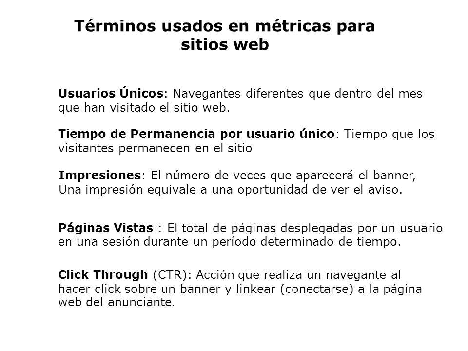 Términos usados en métricas para sitios web