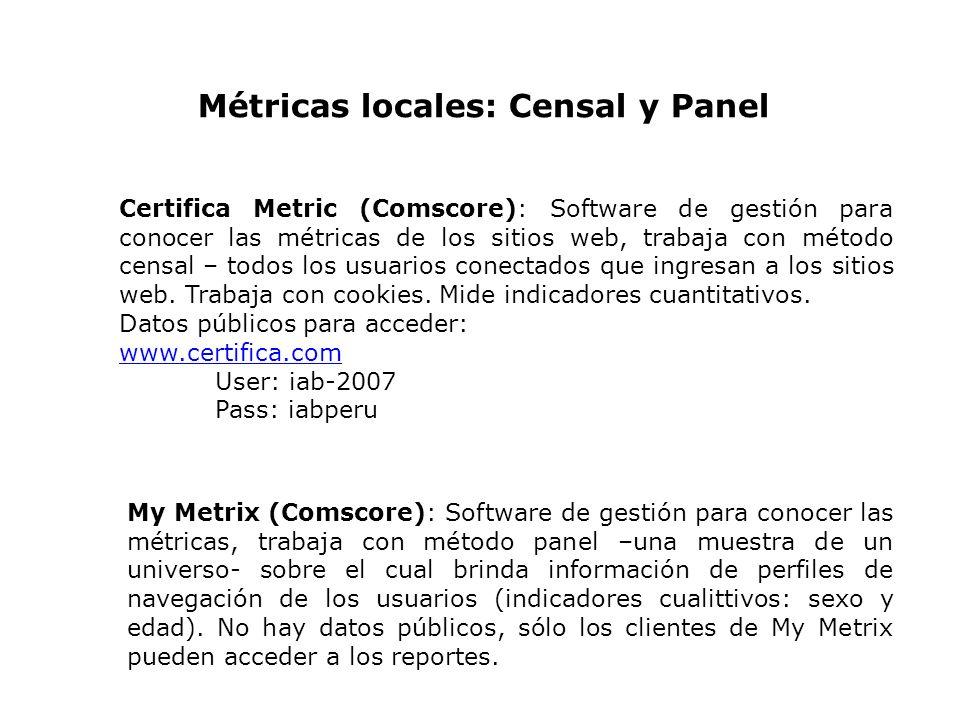 Métricas locales: Censal y Panel