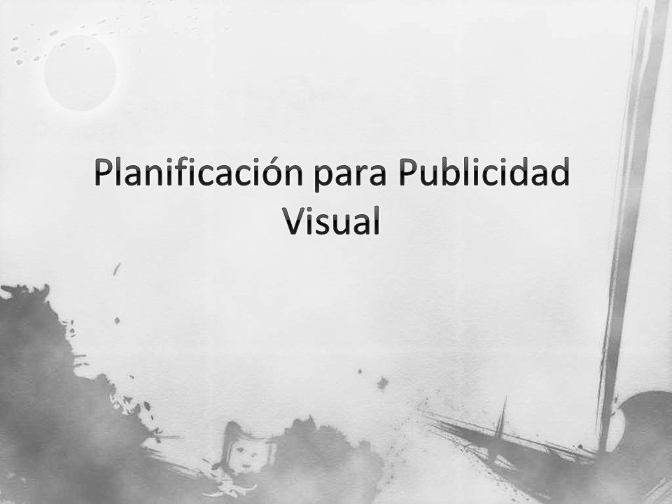 Planificación para Publicidad Visual