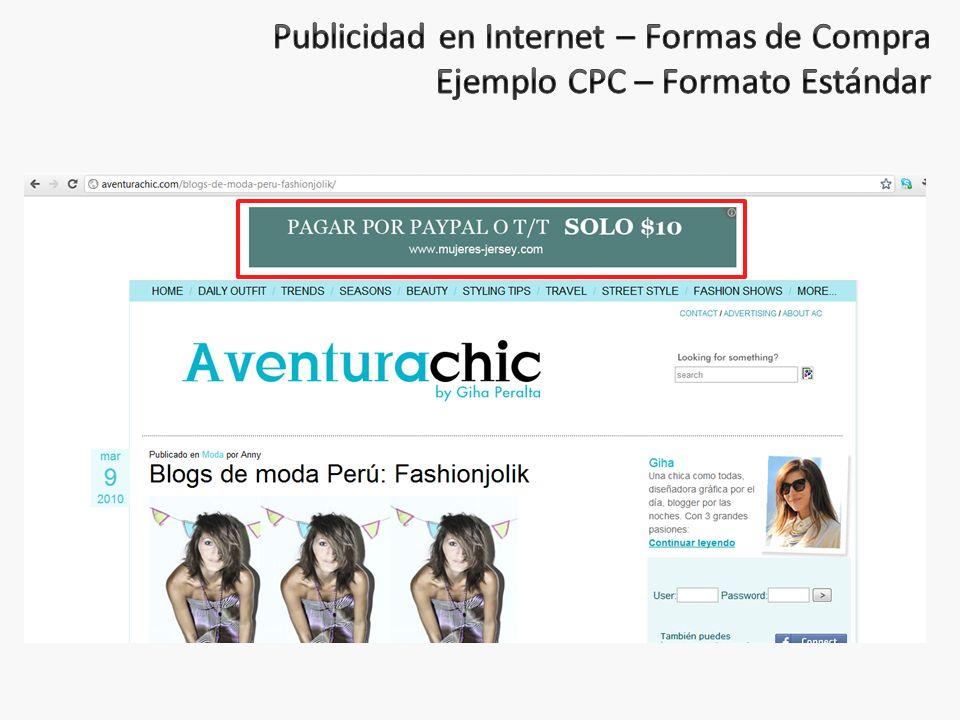 Publicidad en Internet – Formas de Compra Ejemplo CPC – Formato Estándar