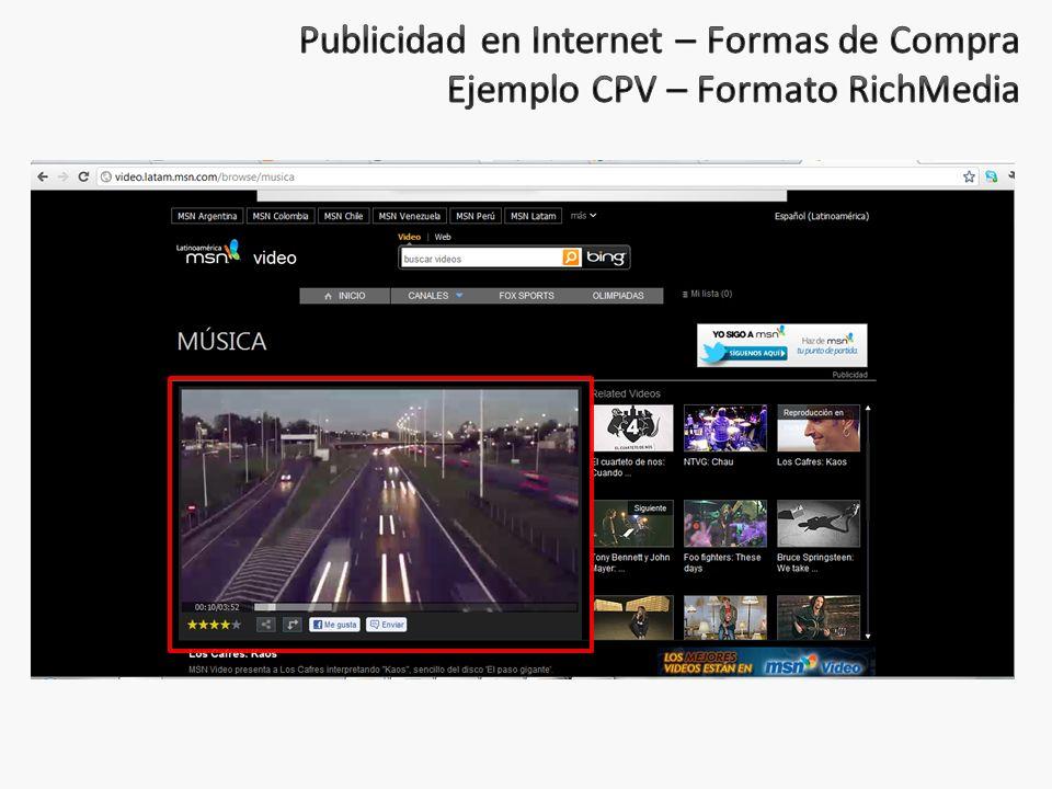 Publicidad en Internet – Formas de Compra Ejemplo CPV – Formato RichMedia