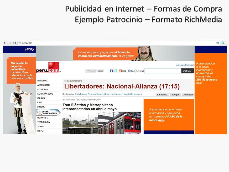 Publicidad en Internet – Formas de Compra Ejemplo Patrocinio – Formato RichMedia