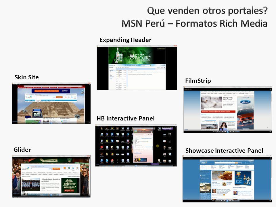 Que venden otros portales MSN Perú – Formatos Rich Media