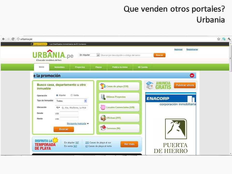 Que venden otros portales Urbania