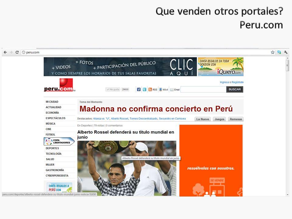 Que venden otros portales Peru.com