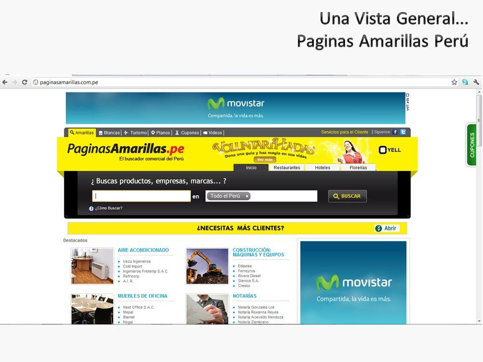 Una Vista General... Paginas Amarillas Perú