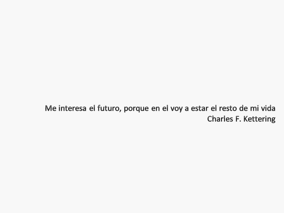 Me interesa el futuro, porque en el voy a estar el resto de mi vida Charles F. Kettering