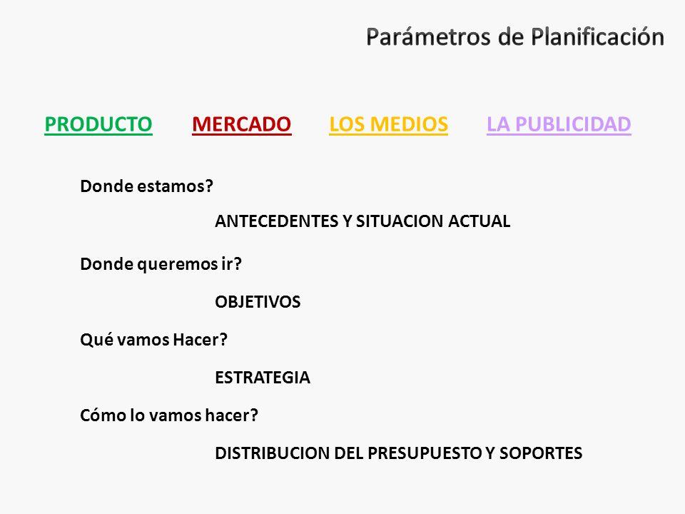 Parámetros de Planificación