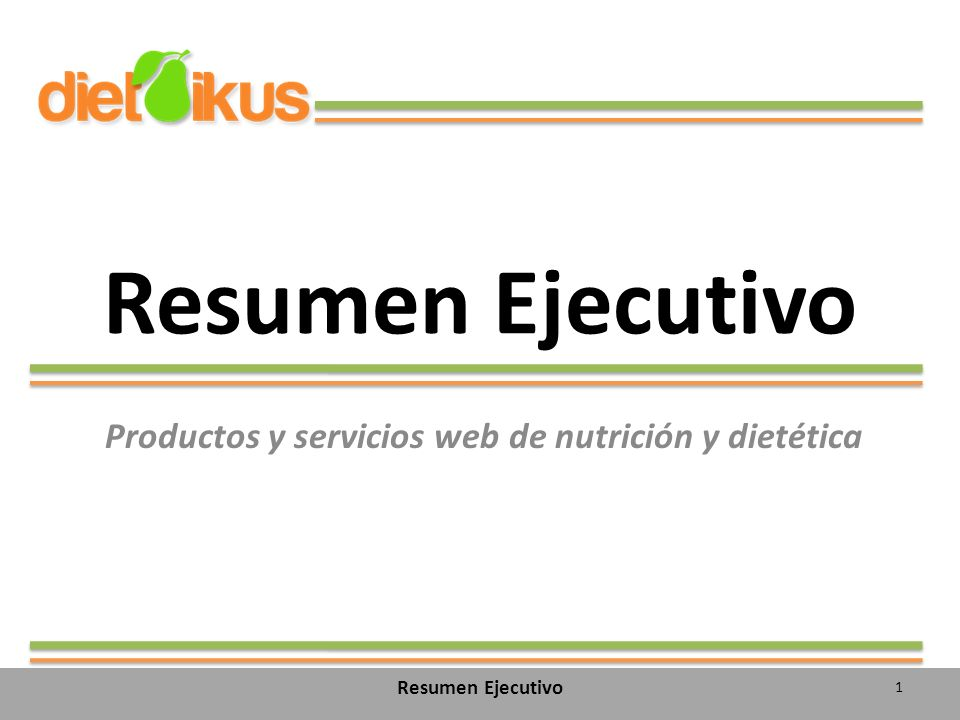 Productos y servicios web de nutrición y dietética