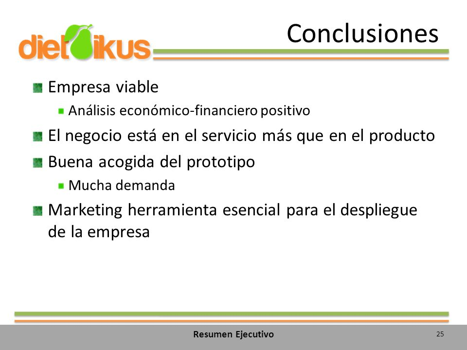 Conclusiones Empresa viable