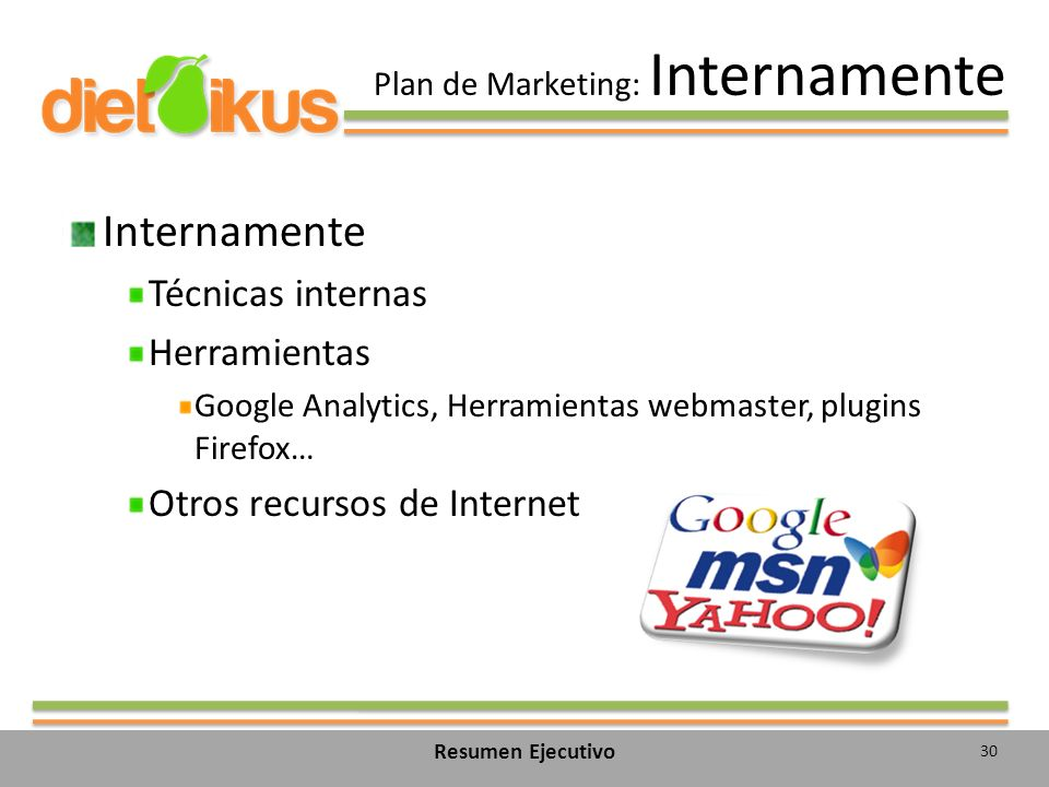 Plan de Marketing: Internamente