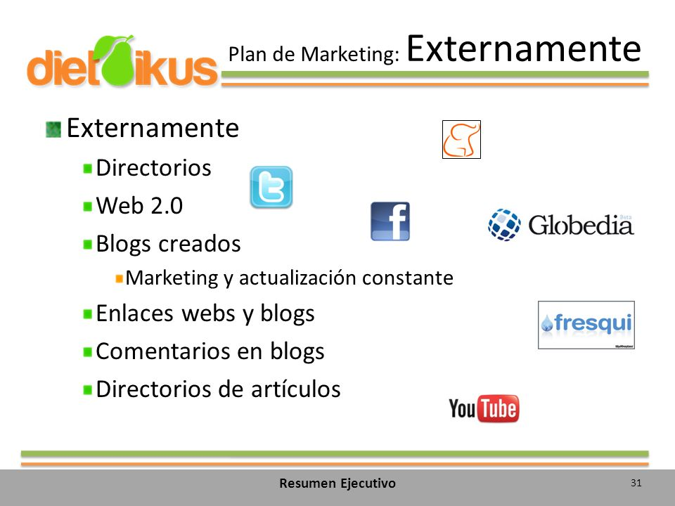 Plan de Marketing: Externamente